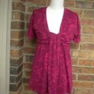 SPLENDID Women Burgundy/Pink Pima Cotton Blend Top Shirt Size M