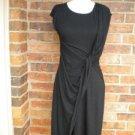 CARMEN MARC VALVO Black Dress Size S Faux Wrap NEW