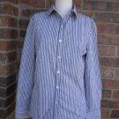 CABI Women Blouse Shirt Size M Stripe Cotton Blend Style #636 Long Sleeve Top