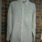 J CREW Men Yellow Plaid 100% Linen Long Sleeve Shirt Size XL 17½ - 18  / 35