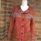 COLDWATER CREEK Women Cardigan Sweater Jacket Size S Indian Southwest Wool Blend