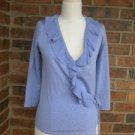 BANANA REPUBLIC Women Lavender Silk Blend Wrap Knit Top Size S