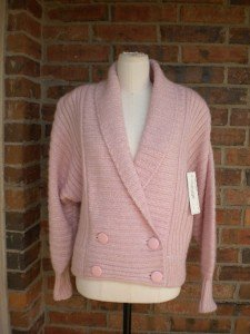 I B DIFFUSION Women Wool Mohair Blend Cardigan Sweater Jacket Size S Pink NEW