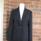 CABI Women Blazer Jacket Lined Size 6 Style# 725 Black Boyfriend Pockets
