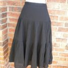 J CREW Pleated Skirt Women Size 8 Black Lined Broomstick NEW