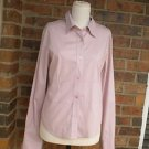 ODILLE Anthropologie Women Pink Blouse Shirt Top Size S