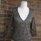 ODILLE Anthropologie Women Lined  100% Nylon Brown Lace Top Size XS S