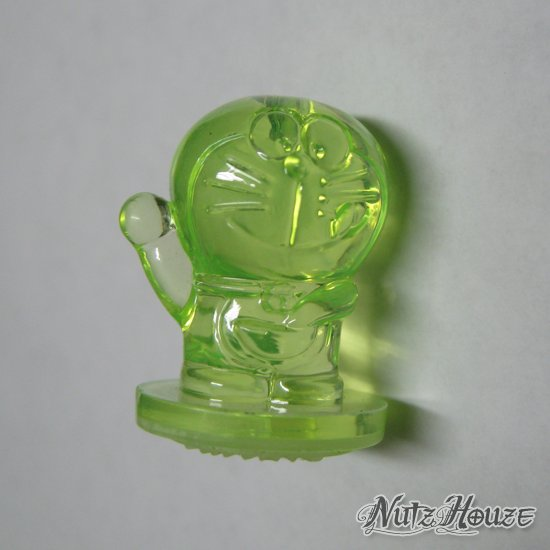 Hong Kong 7-Eleven - Doraemon Mini 3-D Figure Rubber Stamp - Lime/Private
