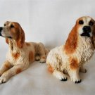Setter Dog Figurines Dipinto A Mano Italy Excellent Setter & Cocker Spaniel