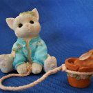 1997 Enesco Calico Kittens Some Bunny To Love You Figurine Priscilla Hillman
