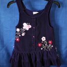 Mckids Girls Jumper Corduroy purple with embrodered flowers Size 4T