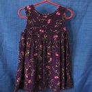 Girls Mckids Corduroy Jumper Dress Purple with Floral Design Size 4T