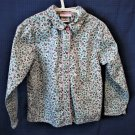 Girls Long Sleeve Cotton Blouse Size 5 Floral