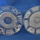 "2 vintage 6"" Bread and Butter Plates One Clear and One Frosted"