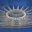 Federal USA Columbia Crystal 3  Saucers-Depression Era Glass