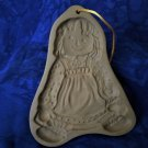 Brown Bag-Cookie  Art Cookie Mold Raggedy Ann or Girl Doll 1985