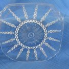 3 Clear Columbia Depression Glass Federal Bread and Butter Plates