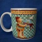 Debbie Mumm Sakura Joy To The World  2000 Stoneware Coffee Mug