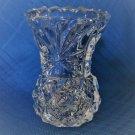 Vintage Glass Toothpick Holder or Small Mini Vase  Sunburst & Diamond Design