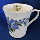 Souvenir Mug from The Butchart Gardens Victoria Canada August Small Blue Flowers