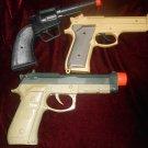 3  Plastic Toy Guns Special Ops Pistol Western Style Gun