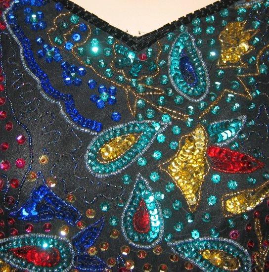 Laurence Kazar Vintage Sequin Encrusted Shirt - P/M
