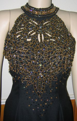 Sterling by Stone Ferris Black Embellished Gown