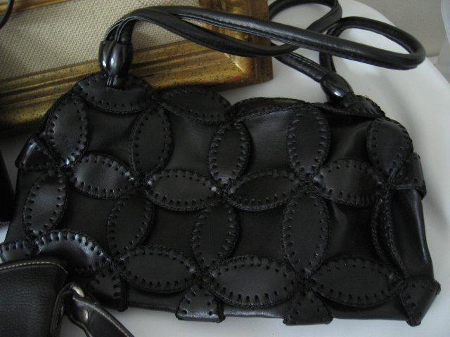 14.NEW TAPESTRY BLACK WOMEN'S PURSE HANDBAG BAG LEATHER-LIKE