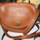 19.AUTHENTIC COACH BROWN ROUND WOMEN'S BAG LEATHER HANDBAG PURSE