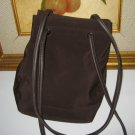 21.NINE WEST BROWN OFFICE BOOK TOTE WOMEN'S BAG HANDBAG PURSE microfiber