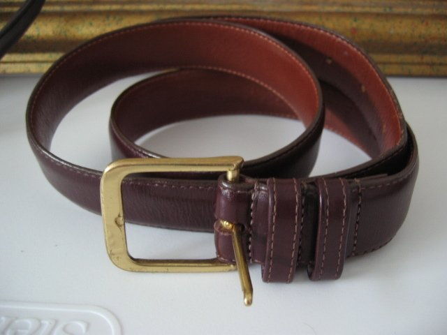 22.	AUTHENTIC COACH BELT SZ M GENUINE LEATHER BROWN