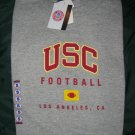 NEW USC TROJAN GRAY SHIRT SMALL UNIVERSITY SOUTHERN CALIFORNIA FOOTBALL OFFICIAL COLLEGE T-SHIRT