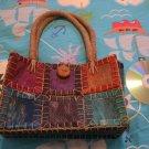 ETHNIC STRAW BAG RAINBOW COCONUT purse women's accessory clothing cute