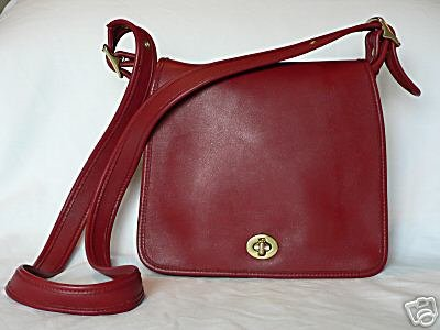 SOLD -  AUTHENTIC RED COACH LEGACY WOMEN'S PURSE HANDBAG - STEWARDESS BAG #1