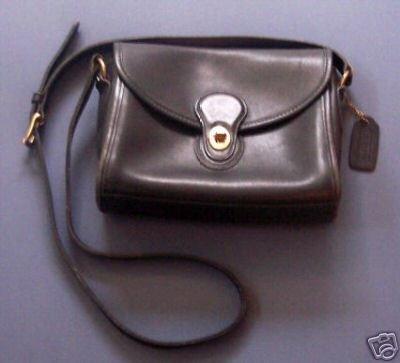 AUTHENTIC COACH BLACK COURT BAG PURSE WOMEN'S HANDBAG GENUINE LEATHER