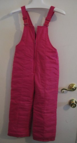 sold - SOS HOT PINK SKI SNOWBOARDING SNOW SUIT NYLON THERMAL JUMPSUIT KIDS SIZE 7 CLOTHES