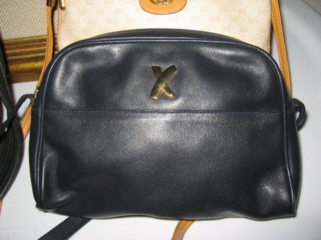 AUTHENTIC PALOMA PICASSO BLUE BLACK WOMEN'S PURSE HANDBAG BAG
