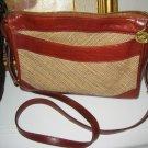 AUTHENTIC BRAHMIN PURSE TWEED brown LEATHER WOMEN'S BAG HANDBAG accessory clothes