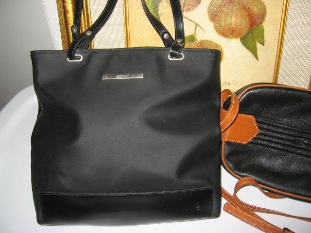 ESPRIT BLACK PURSE WOMEN'S BAG HANDBAG OFFICE TOTE BOOK TOTE