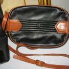 AUTHENTIC NINA RICCI true VINTAGE BLACK BROWN WOMEN'S LEATHER PURSE HANDBAG BAG
