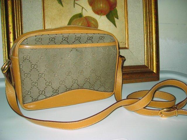 2.AUTHENTIC GUCCI BROWN SIGNATURE - women's leather purse handbag bag CANVAS