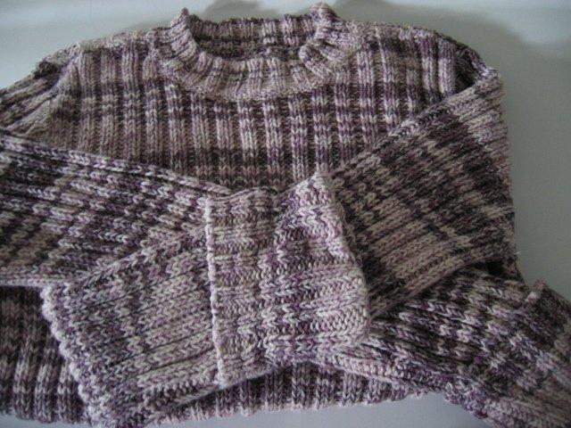 CLOTHES TOP SHIRT SWEATER KNIT arizona purple white XL women's