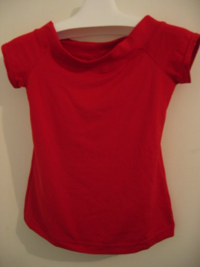 CLOTHES TOP SHIRT STRETCH no boundaries red M girls