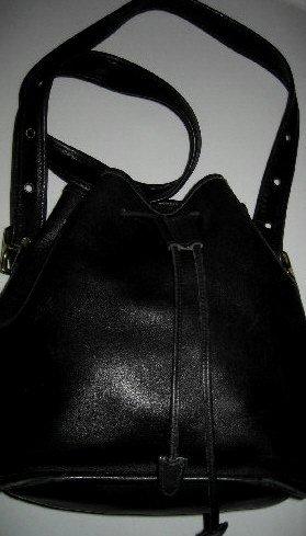AUTHENTIC BLACK DRAWSTRING BUCKET tote COACH - WOMEN'S HANDBAG BAG PURSE #2