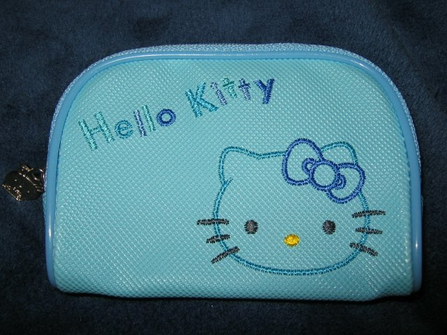 SOLD OUT - BLUE HELLO KITTY I-POD ipod DISNEY case travel CELL PHONE DIGITAL CAMERA BAG WALLET