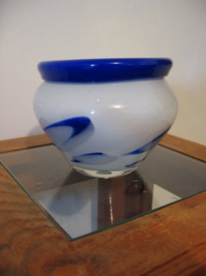 BLUE WHITE VASE FLOWER HOLDER CONTAINER HOME DECOR GARDEN DECORATIVE COLLETIBLE