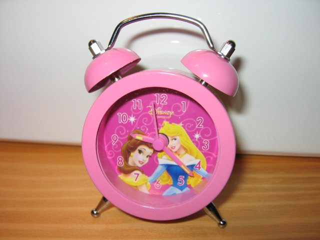 SOLD - SLEEPING BEAUTY DISNEY CLOCK disney kids toys decorative collectible pink beauty & the beast