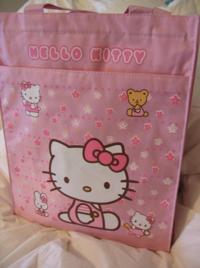 SOLD - HELLO KITTY LUNCH BAG TOTE PINK WOMEN'S KIDS ACCESSORY PICNIC PURSE BAG