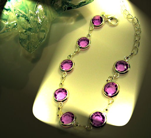 purple amethyst COLOR JEWELRY CHARM BRACELET beads PARTY FAVOR watches WOMEN'S ACCESSORY