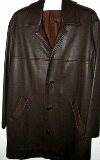 AUTHENTIC COACH MEN'S LEATHER JACKET coat blazer SZ L brown CLOTHES clothing SUIT SHIRT party